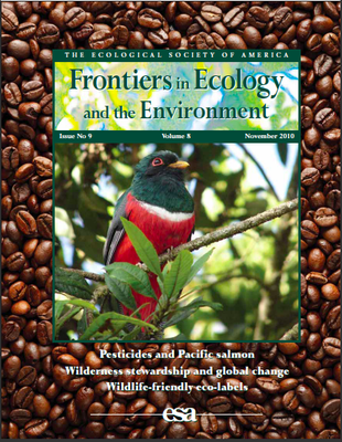 The Ecological Society of America: Frontiers in Ecology and the Environment - Issue 9, Volume 8, November 2010