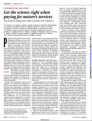 Getting the science right when paying for nature's services