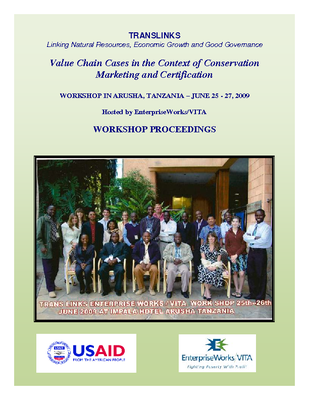 2009 Value Chain Workshop Proceedings