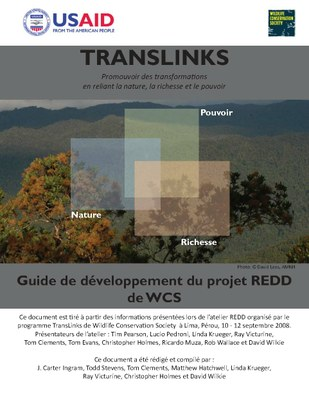 WCS REDD Project Development Guide (French)