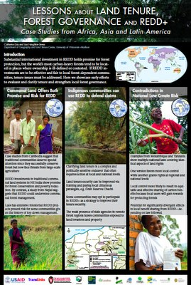 POSTER: Lessons About Land Tenure, Forest Governance And Redd+: Case Studies from Africa, Asia and Latin America