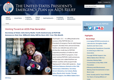 U.S. President's Emergency Plan for AIDS Relief (PEPFAR)