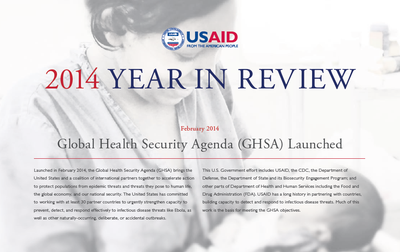 USAID 2014 Year in Review: Global Health Security Agenda Launched