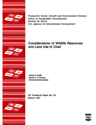 Considerations of Wildlife Resources and Land Use in Chad
