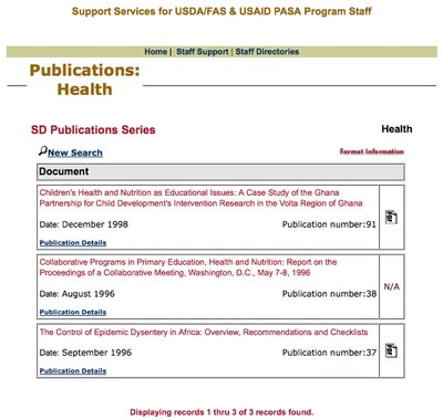 USAID Africa SD Publications Series: Health