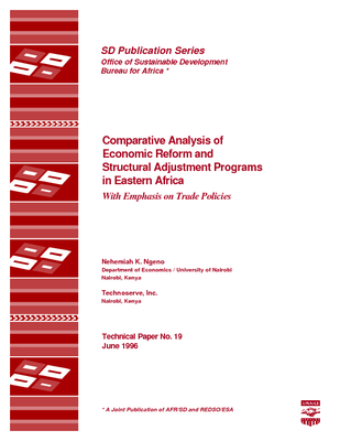 Comparative Analysis of Economic Reform and Structural Adjustment Programs in Eastern Africa: With Emphasis on Trade Policies