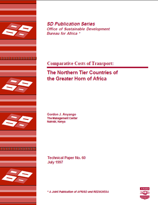 Comparative Costs of Transport: The Northern Tier Countries of the Greater Horn of Africa