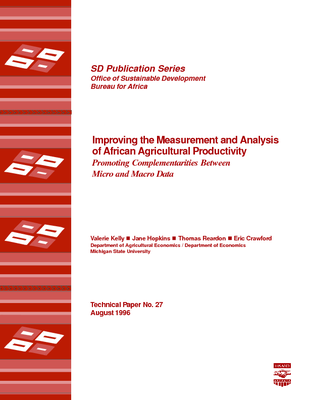 Improving the Measurement and Analysis of African Agricultural Productivity: Promoting Complementarities Between Micro and Macro Data