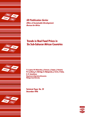 Trends in Real Food Prices in Six Sub-Saharan African Countries