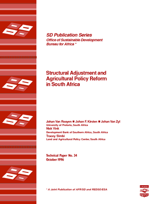 Structural Adjustment and Agricultural Policy Reform in South Africa