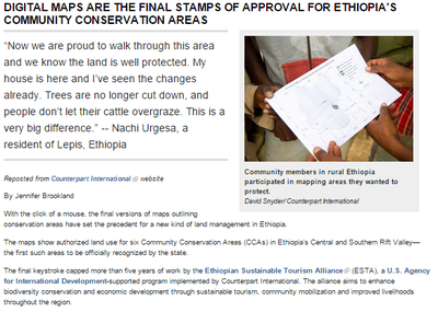 USAID - Digital Maps are the Final Stamps of Approval for Ethiopia's Community Conservation Areas