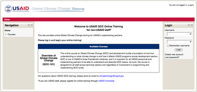 USAID GCC Online Training for non-USAID staff