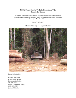 Equatorial Guinea USFS IP Trip Report: Reducing Forest Degradation and Loss of Biodiveristy; Aug 04