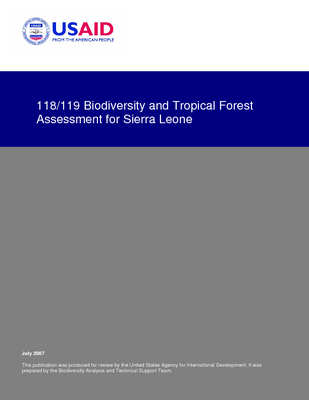 Sierra Leone USAID-USFS: USAID Biodiversity and Tropical Forest Assessment; Jul 07