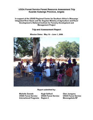 Angola USFS IP Trip Report: Forest Resource Assessment: Kuando Kubango Province; May 06