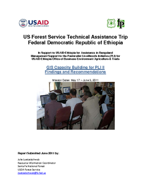Ethiopia USFS Trip Report: GIS Mission in Support of USAID PLI II; May 2011