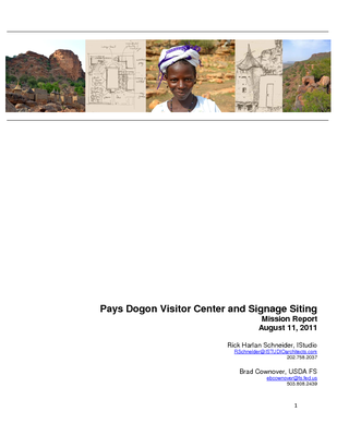 Pays Dogon Visitor Center and Signage Siting: Mission report