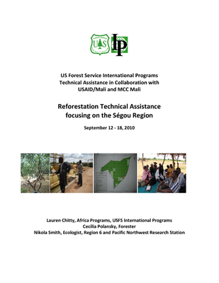 Reforestation Technical Assistance focusing on the Ségou Region