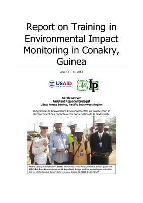 Report on Training in Environmental Impact Monitoring in Conakry, Guinea