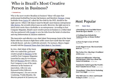 Who is Brazil's Most Creative Person in Business?