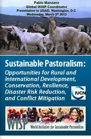 Cover:  Sustainable Pastoralism: Opportunities for Rural and International Development, Conservation, Resilience, Disaster Risk Reduction, and Conflict Mitigation