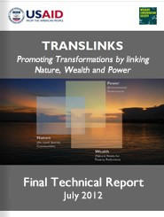 Cover: TransLinks: Promoting Transformations by linking Nature, Wealth and Power - Final Technical Report