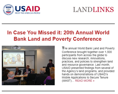 April 2019 #LandMatters Newsletter