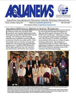 AquaFish Collaborative Research Support Program Newsletter