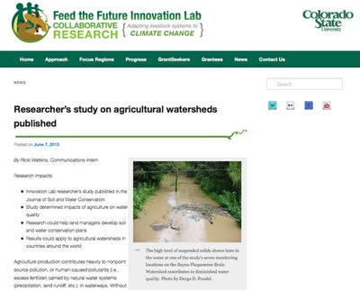 Feed the Future Food Security Innovation Lab for Collaborative Research for Adapting Livestock Systems to Climate Change - News