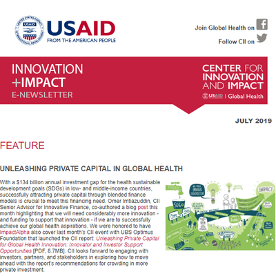 Innovation + Impact E-newsletter July 2019