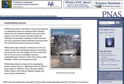 Proceedings of the National Academy of Sciences of the United States of America (PNAS) Sustainability Science
