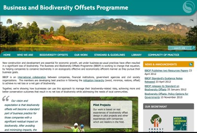The Business and Biodiversity Offset Program (BBOP)