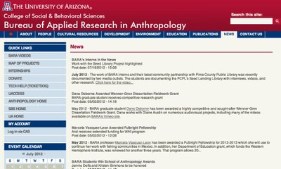The University of Arizona - Bureau of Applied Research in Anthropology (BARA)