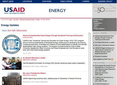 USAID ENERGY UPDATE Newsletter