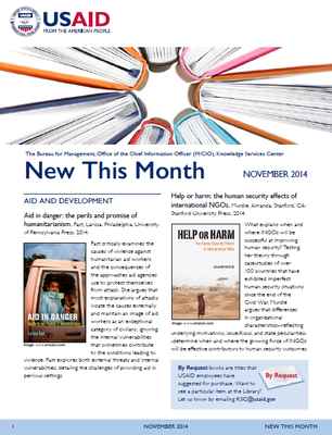 What's New in the USAID Library: November 2014