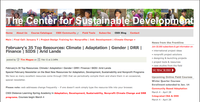 Center for Sustainable Development -  February's 35 Top Resources: Climate | Adaptation | Gender | DRR | Finance | SIDS | Arid Lands
