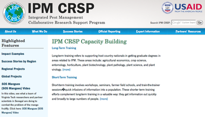 IPM CRSP Capacity Building
