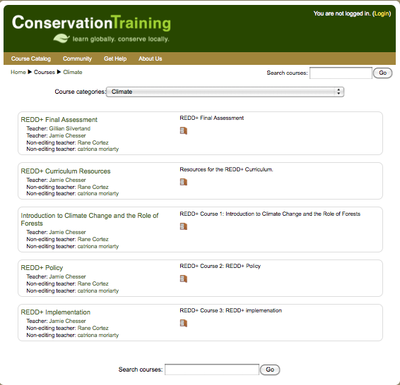 Announcement: New, self-paced and web-based courses on climate change and REDD+