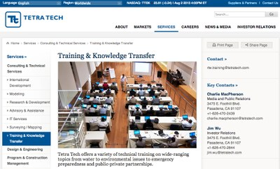 Tetra Tech Training & Knowledge Transfer