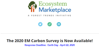 The 2020 Ecosystem Marketplace Carbon Survey is Now Available!