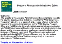 ABCG Jobs & Careers Resources: Director of Finance and Administration, Gabon