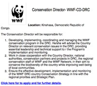 ABCG Jobs & Careers Resources: Conservation Director - WWF