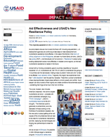 USAID Impact Blog: Aid Effectiveness and USAID's New Resilience Policy