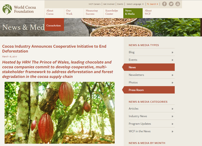 Cocoa Industry Announces Cooperative Initiative to End Deforestation