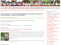 The Center for Sustainable Development July Newsletter: Special Nutrition and Home Gardening Issue