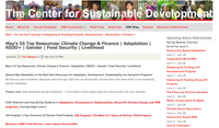 The Center for Sustainable Development: May's 55 Top Resources