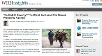 The End of Poverty? The World Bank and the Shared Prosperity Agenda