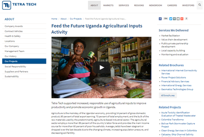 Feed the Future Uganda Agricultural Inputs Activity Tetra Tech is Helping Grow the Agriculture Sector in Uganda