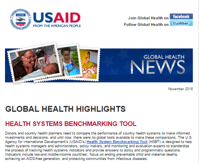 Global Health News - Nov 2016
