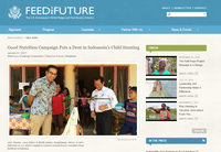 Good Nutrition Campaign Puts a Dent in Indonesia's Child Stunting